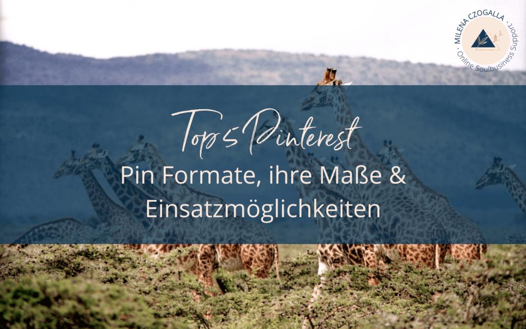 Top 5 Pinterest Pin Formate, ihre Maße & Einsatzmöglichkeiten
