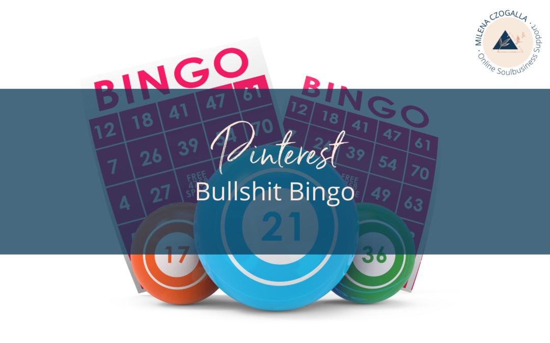 Pinterest Bullshit Bingo