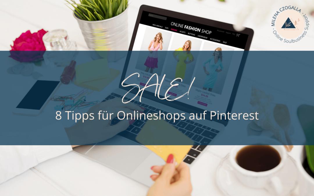 SALE! 8 Tipps für Onlineshops auf Pinterest